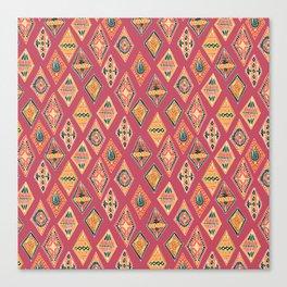 Desert Diamonds Pattern Canvas Print