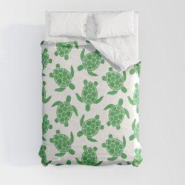 Sea Turtle in Green Comforters