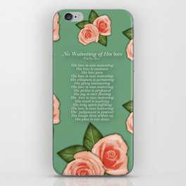 No Waivering of His love By Feon Davis iPhone Skin