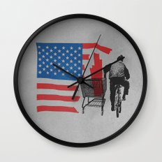 Scrapped Wall Clock