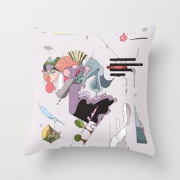 Cover for an imaginary magazine Throw Pillow