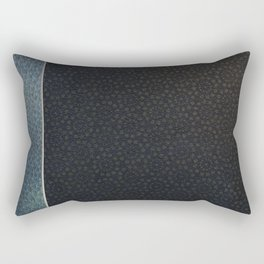 Unique Dark Patterned Leather Rectangular Pillow