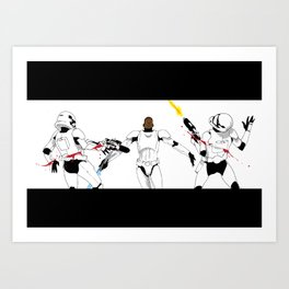 now i feel the force  Art Print