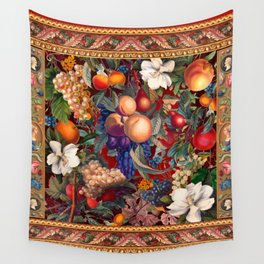 Vintage Fruit Pattern VII Wall Tapestry