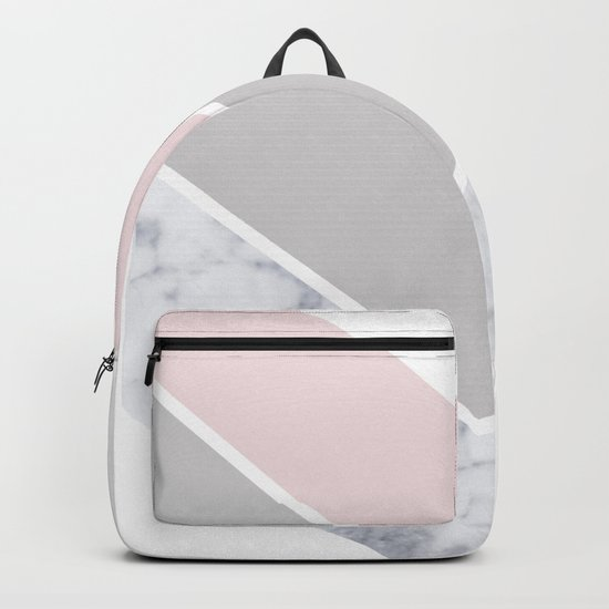 Scandinavian Marble Blush Gray Backpack
