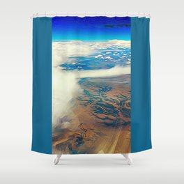 Somewhere Over the Desert Shower Curtain