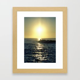 Riding the Wave Framed Art Print