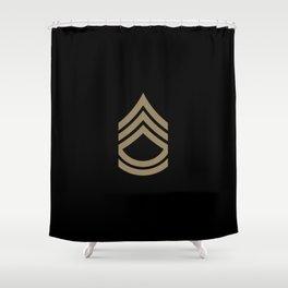 Sergeant First Class (Brown) Shower Curtain