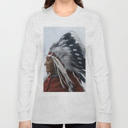 Lazy Boy - Blackfoot Indian Chief Long Sleeve T-shirt