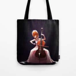 The Cello Player Tote Bag