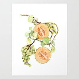 Cantaloupe Desire Art Print