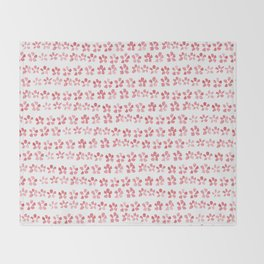 Floral Pink Throw Blanket