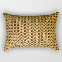 Gold and wood carving pattern Rectangular Pillow