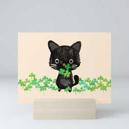 The Luckiest Cat Mini Art Print