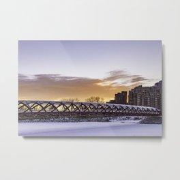 Calgary Peace Bridge at Sunrise Metal Print