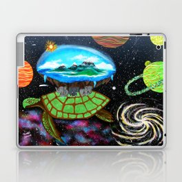 Cosmic Turtle Journey Through Space Laptop & iPad Skin