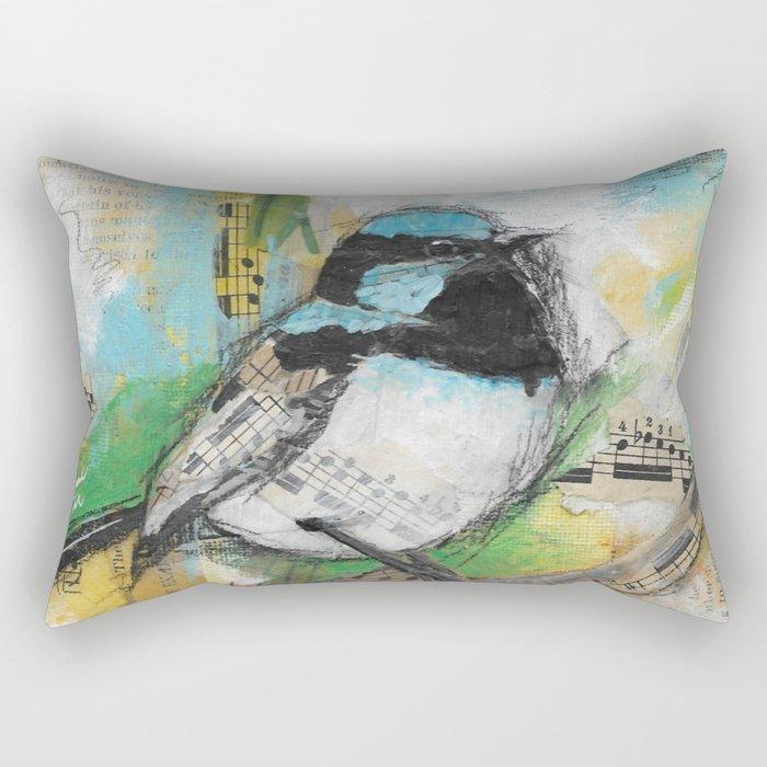 Fairy Wren Rectangular Pillow