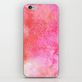 Abstract blush pink lilac orange hand painted watercolor iPhone Skin