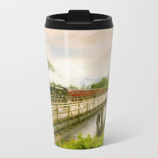 Steam Train Metal Travel Mug