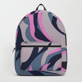 Pop Poppy Blue-Gray Backpack