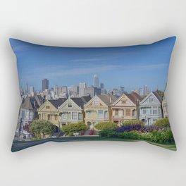 Painted Ladies San Francisco CA Rectangular Pillow