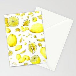 Lemon Lust on White Stationery Cards