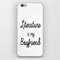 literature iPhone & iPod Skins featuring literature is my boyfriend  by Beautiful Bibliophile's Boutique