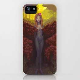 Red Hedge iPhone Case