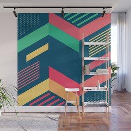 Memphis design, abstract geometric Wall Mural