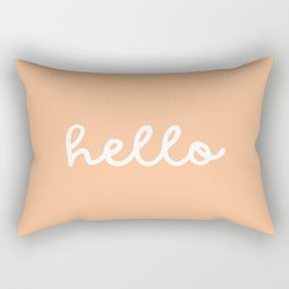 HELLO - SUNKISSED ORANGE Rectangular Pillow