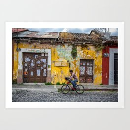 Antigua by bicycle Art Print