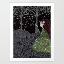 My Winter Stars Art Print