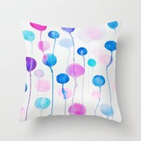 candy Throw Pillows featuring Candy by DuckyB
