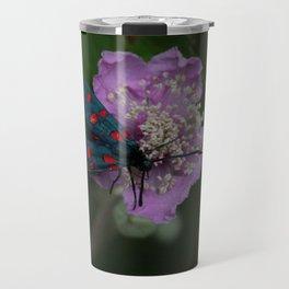 New forest burnet on purple flower Travel Mug