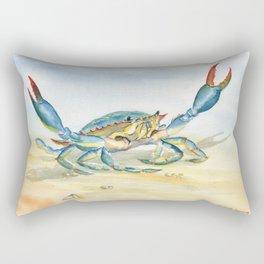 Colorful Blue Crab Rectangular Pillow