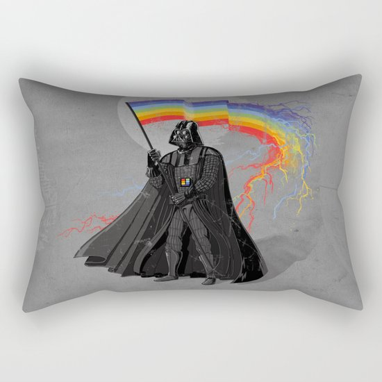 The Rainbow Side of the Force Rectangular Pillow