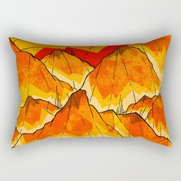 Bonfire Mountains Rectangular Pillow