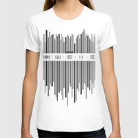 code T-shirts featuring Music Code by Sitchko Igor