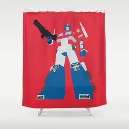 Transformers G1 - Optimus Prime Shower Curtain