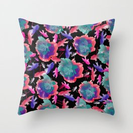 Abstract floral background 999 Throw Pillow