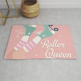 Roller skates girl 02 Rug
