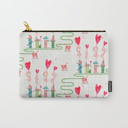 Heart Smoke Town  Carry-All Pouch