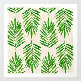Bali Palms 2 / Tropical Pattern Art Print
