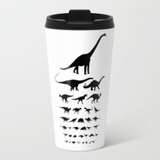 Dinosaur Eye Chart (monochrome) Travel Mug