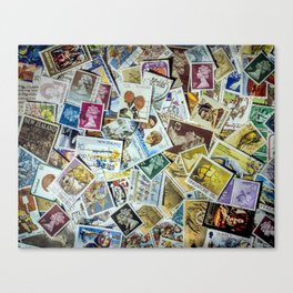 Postage Stamp Collection Canvas Print
