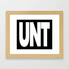 UNT CUNT MUG Framed Art Print