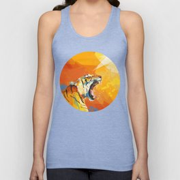 Tiger in the morning Unisex Tank Top