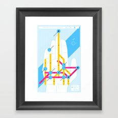 Michigan Highway System Framed Art Print
