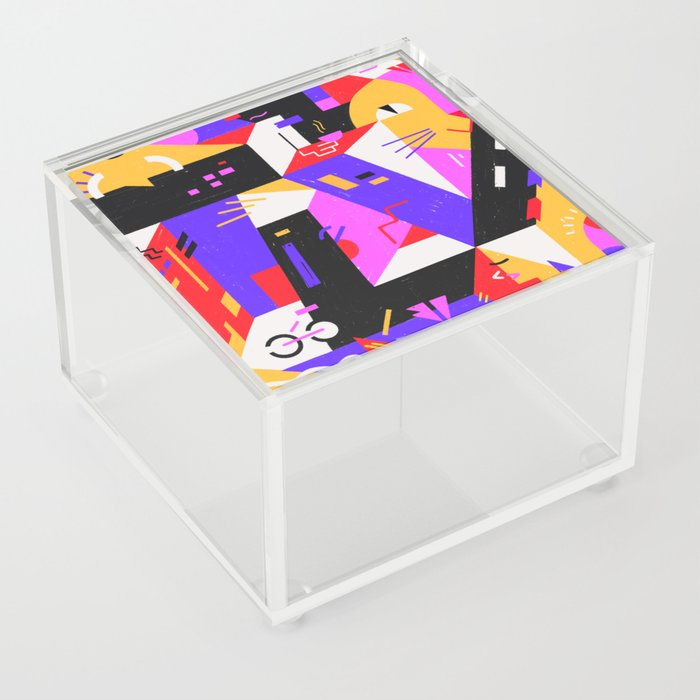 Multi-dimensional city Acrylic Box