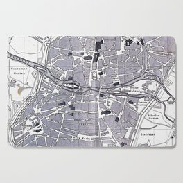Vintage Map of Nuremberg Germany (1858) Cutting Board
